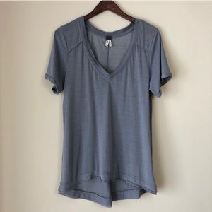 We The Free Gray Distressed Tee Shirt